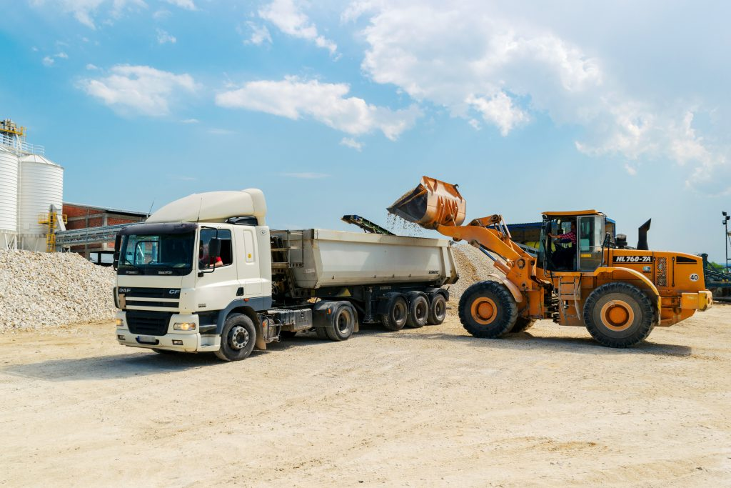transport koparka ciężarówka tło